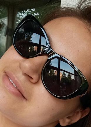 Стильные аккуратные итальянские очки очки кошки очки лисички 3 категория защиты из 4 существующих uv400