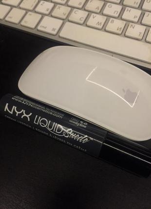 Nyx liquid suede cream lipstick матовая помада оттенок stone fox