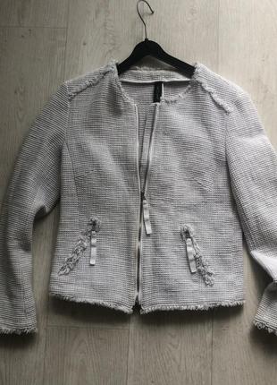 Жакет пиджак marc cain xs s оригинал как zara твидовый