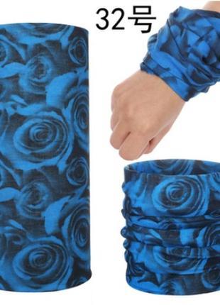 Баф жіночий з трояндами, баф женский с розами