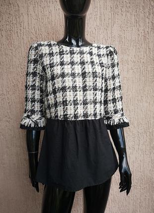 Кофта с имитацией блузы zara