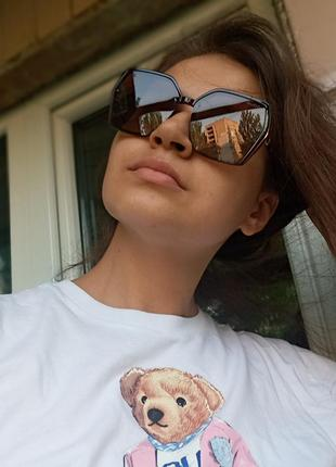 Крутые очки поляризация антиблик италия коричневые крупные очки3 фото