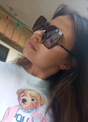 Крутые очки поляризация антиблик италия коричневые крупные очки2 фото