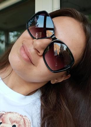 Стильные женские очки италия минимализм в чёрной оправе итальянские очки8 фото