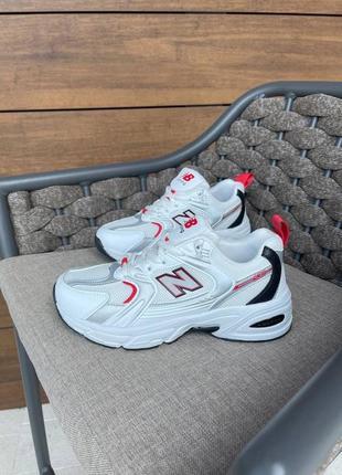 Женские кроссовки nb 530 white/ red демисезонные