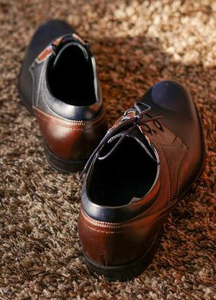 Стильні чоловічі туфлі дербі2 фото