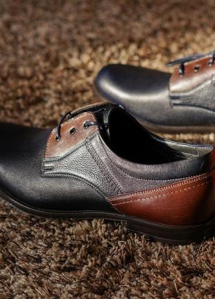 Стильні чоловічі туфлі дербі4 фото