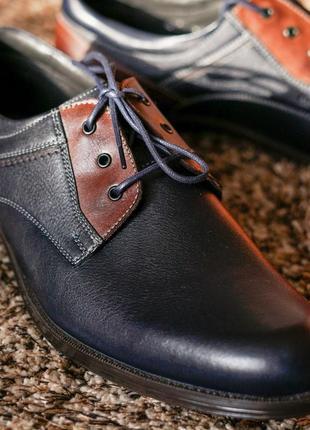 Стильні чоловічі туфлі дербі6 фото