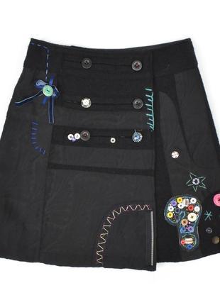 Desigual юбка женская размер 36 - м с принтом