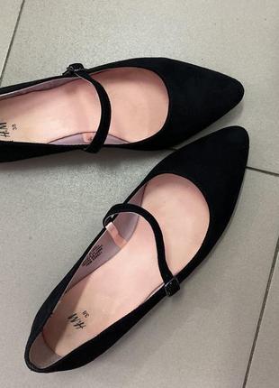 Балетки туфли мокасины чёрныйе от h&m