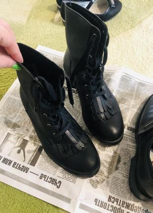 Кожаные ботинки 2-е в подарок 🎁