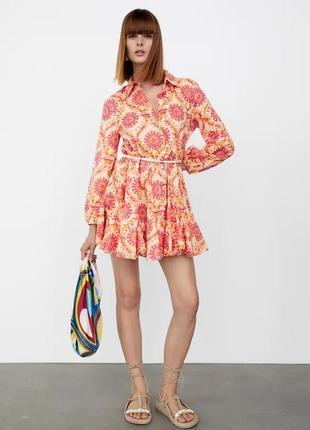 Коротка сукня/плаття з принтом zara