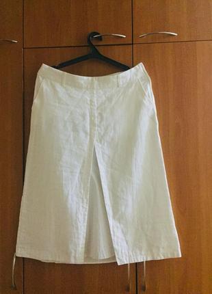 Распродажа летних вещей!белая льняная юбка миди