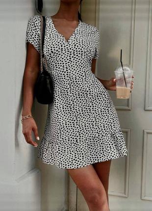 Платье летнее с мелким принтом