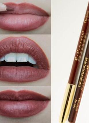 Водостойкий карандаш для губ, коричневый карандаш для губ,el corazon® карандаш для губ №202 chocolat