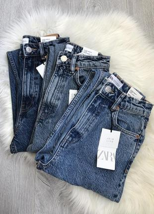 Крутые базовые джинсы mom fit из плотного качественного джинса