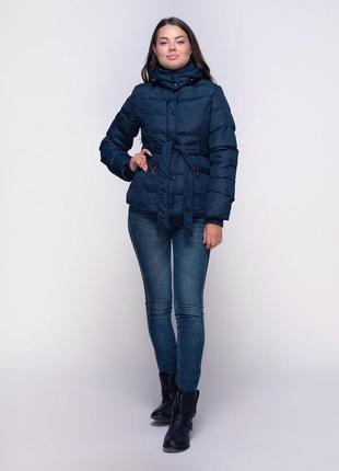 Теплая куртка пуховик с поясом