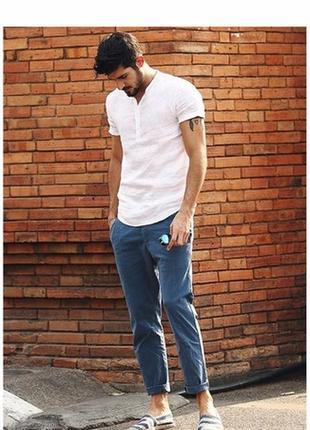 Льняная рубашка белая