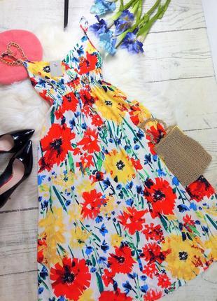 Романтична сукня міді у квітковий принт