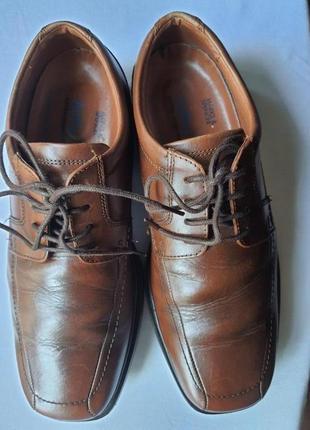 Marks & spencer airflex кожанные туфли повышенной комфортности