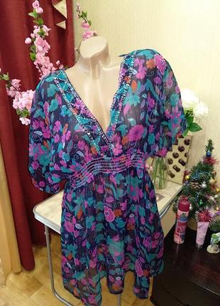 Пляжное платье туника р.14 ocean club