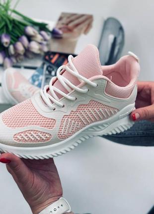 Рр 35-39.женские спортивные лёгкие белые нежно розовые