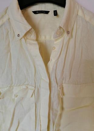 Рубашка из льна massimo dutti