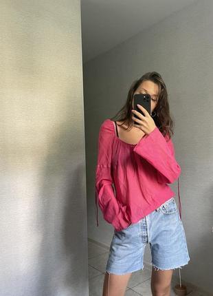 Розовая полупрозрачная блуза dorothy perkins