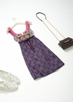 Эксклюзивное шелковое платье сарафан из натурального шелка odd molly