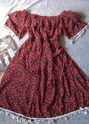 Платье, сарафан в цветочный принт