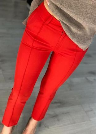 """Женские красные брюки,, классика""""со стрелкой"""