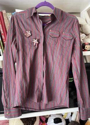 Мягусенькая  рубашка с люрексовой нитью grandi !