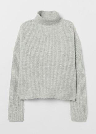 Теплющий свитер оверсайз от h&m в составе шерсть, альпака