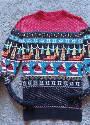 Новогодний свитер для мальчика