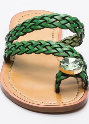 Новые сандалии furla босоножки шлёпанцы фурла кожа стразы swarovski made in italy2 фото