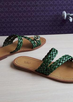 Новые сандалии furla босоножки шлёпанцы фурла кожа стразы swarovski made in italy4 фото