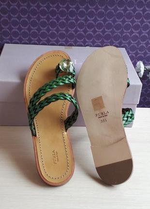 Новые сандалии furla босоножки шлёпанцы фурла кожа стразы swarovski made in italy5 фото