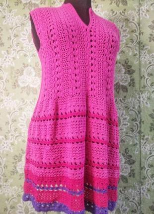 Льняное платье ручной работы