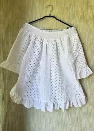 Платье туника блузка прошва хлопковая