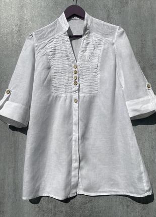 Льняная блузка рубашка