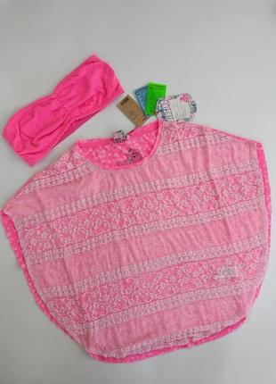 Яркая кружевная трикотажная футболка блузка с топом vingino 164 см