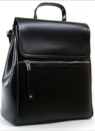 Великий жіночий шкіряний рюкзак-сумка alex rai