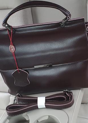 Жіноча шкіряна двохстороння бізнес-сумка alex rai