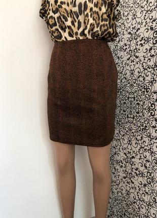 💫класическаю юбка в леопардовый принт