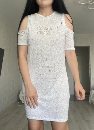Платье футболка трикотажное