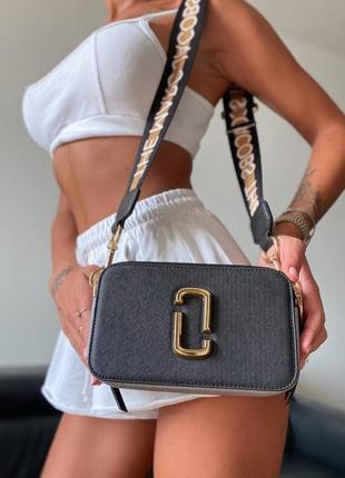 Сумка сумочка клатч snapshot black/white/gold logo