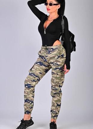 Стильные демисезонные камуфляжные штаны джоггеры,турция см.замеры в описании товара