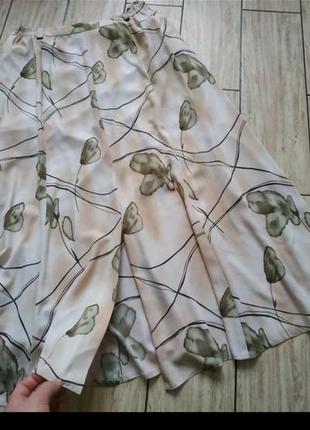 Легкая воздушная юбка миди свободного кроя