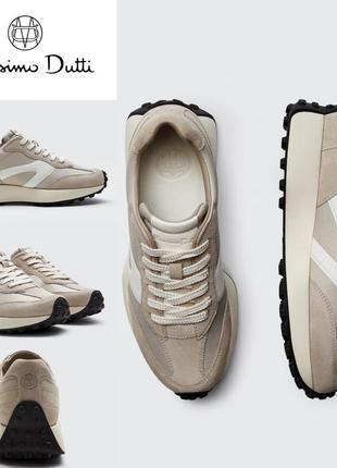 Кроссовки кожаные massimo dutti