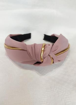 Обруч для волос розовый